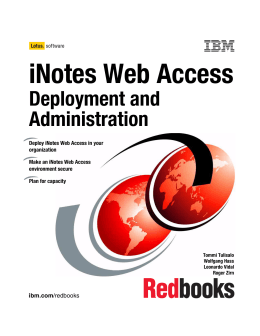 iNotes Web Access Deployment and Administration Front cover