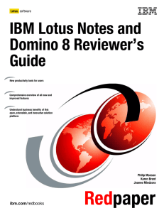 IBM Lotus Notes and Domino 8 Reviewer's Guide Front cover
