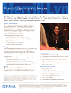 Financial Advisor Internship Program