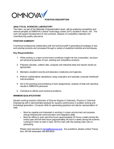 POSITION DESCRIPTION  ANALYTICAL SCIENCES LABORATORY