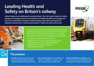 Leading Health and Safety on Britain's railway