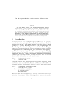 An Analysis of the Anticausative Alternation