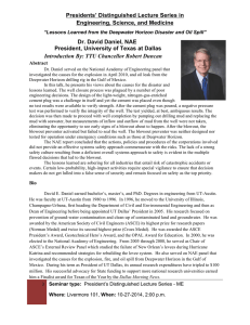 Presidents' Distinguished Lecture Series in Engineering, Science, and Medicine