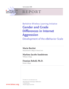 REPORT Gender and Grade Differences in Internet Aggression