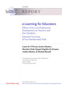 REPORT e-Learning for Educators