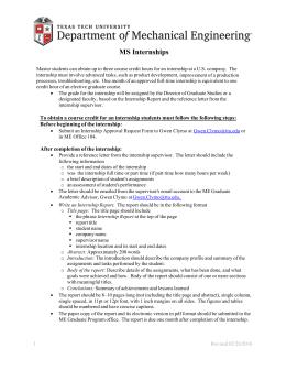 MS Internships