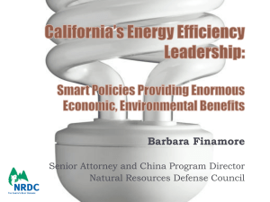 Barbara Finamore Senior Attorney and China Program Director Natural Resources Defense Council