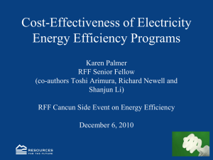 Cost-Effectiveness of Electricity Energy Efficiency Programs