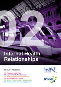02 Internal Health Relationships HEALTH POLICIES