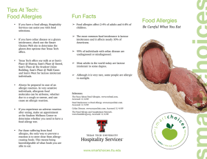 Tips At Tech: Fun Facts Food Allergies Be Careful What You Eat