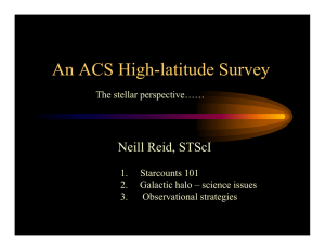 An ACS High-latitude Survey Neill Reid, STScI