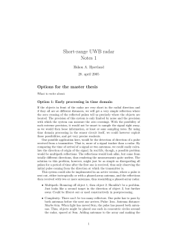 uwb radar thesis Ultra wideband radar antenna design for snow measurement applications by john samy mosy a thesis submitted in partial fulfillment of the requirements for the degree.
