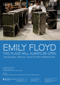 emily floyd this place will always be open INAUGURAL ANNUAL SCULPTURE COMMISSION