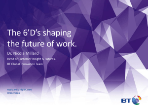 The 6'D's shaping the future of work. Dr. Nicola Millard