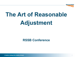 The Art of Reasonable Adjustment RSSB Conference //