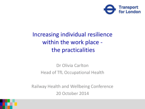Increasing individual resilience within the work place - the practicalities