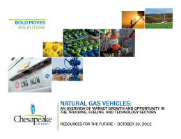 NATURAL GAS VEHICLES: