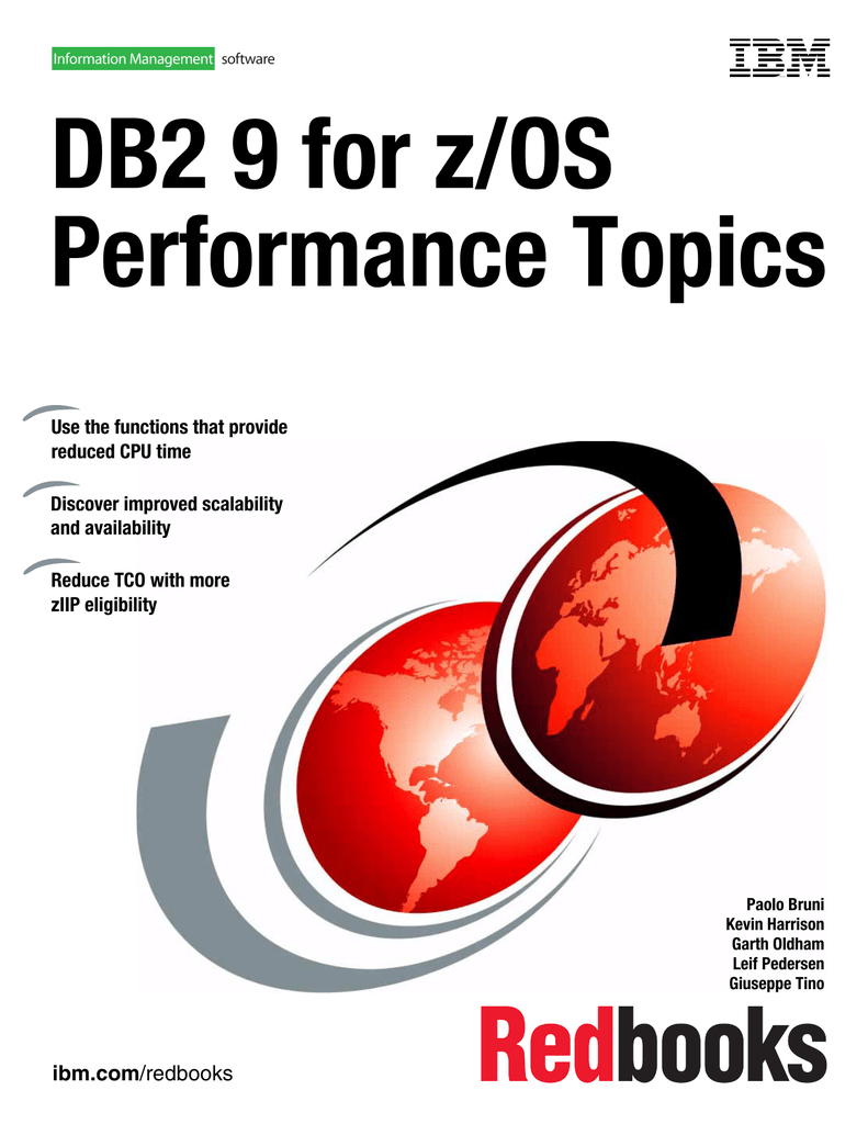 DB2 9 for z/OS Performance Topics Front cover