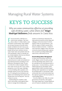 E KEyS TO SuCCESS Managing Rural Water systems