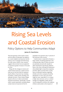 Rising sea Levels and coastal erosion Policy Options to Help Communities Adapt