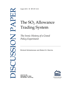 DISCUSSION PAPER The SO Allowance