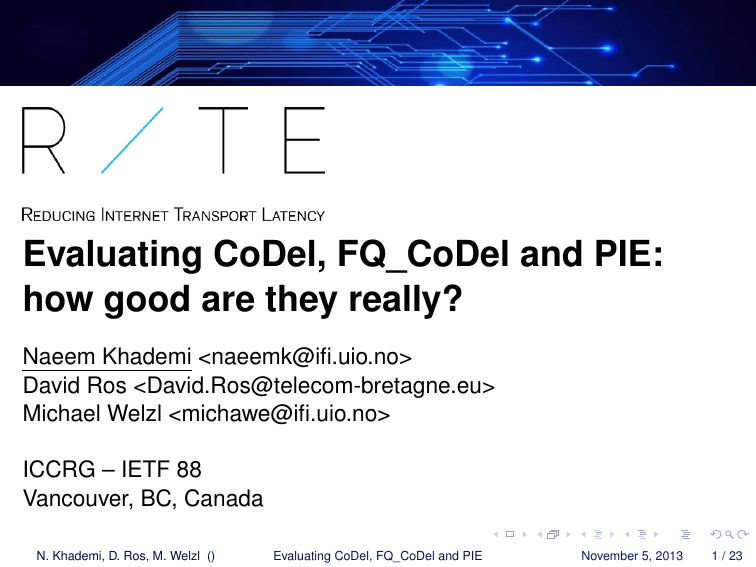 Evaluating CoDel, FQ_CoDel and PIE: how good are they really?