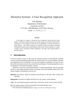 Biometric Systems: A Face Recognition Approach