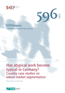 596 Has atypical work become typical in Germany? Country case studies on