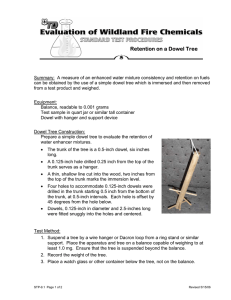 Retention on a Dowel Tree