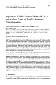 Adjustments  of Public  Pension  Schemes  in... Industrialized  Countries:  Possible  Answers  to