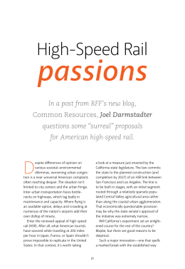 passions  High-Speed Rail D