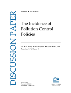 The Incidence of Pollution Control Policies