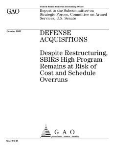 GAO DEFENSE ACQUISITIONS Despite Restructuring,