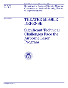GAO THEATER MISSILE DEFENSE Significant Technical