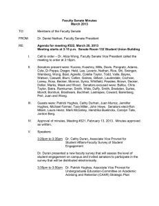 Faculty Senate Minutes March 2013 Agenda for meeting #322, March 20, 2013