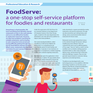 FoodServe: a one-stop self-service platform for foodies and restaurants Professional Education & Research