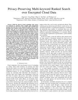 Privacy-Preserving Multi-keyword Ranked Search over Encrypted Cloud Data