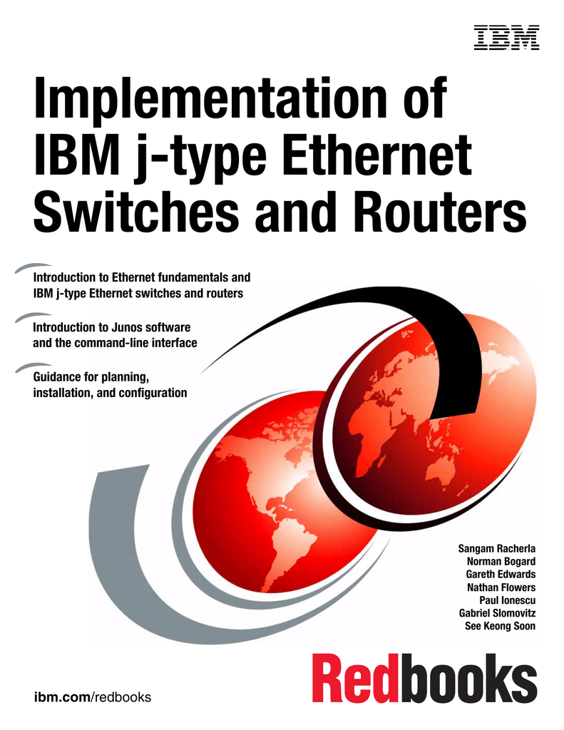 Implementation Of Ibm J Type Ethernet Switches And Routers Front Cover Switch Router Network Cloud Multilayer Emac Ip Phone