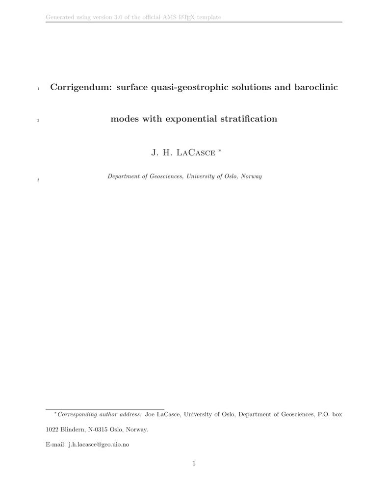 Corrigendum: surface quasi-geostrophic solutions and baroclinic