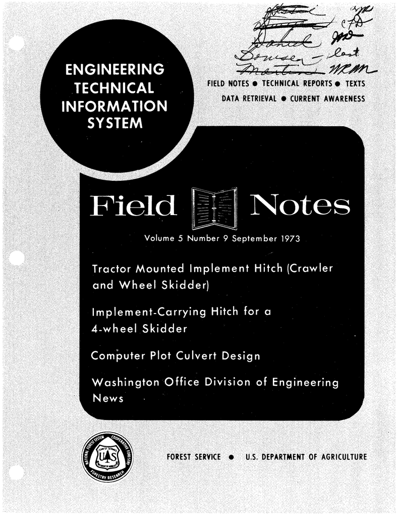 Notes Field TECHNICAL INFORMATION