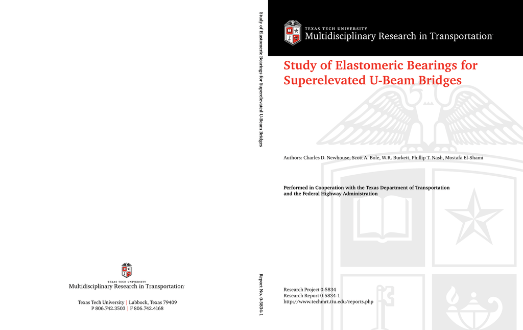 Study of Elastomeric Bearings for Superelevated U-Beam Bridges
