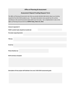 Office of Planning & Assessment Assessment Stipend Funding Request Form