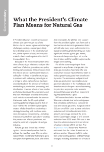 What the President's Climate Plan Means for Natural Gas Commentary