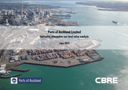 Ports of Auckland Limited Indicative alternative use land value analysis  June 2013