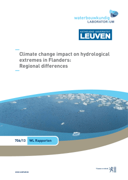LEUVEN Climate change impact on hydrological extremes in Flanders: Regional differences