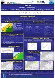 "CLIMAR Evaluation of climate change impacts on flood risks in the... Introduction & objectives case study ""Coastal Flooding"""