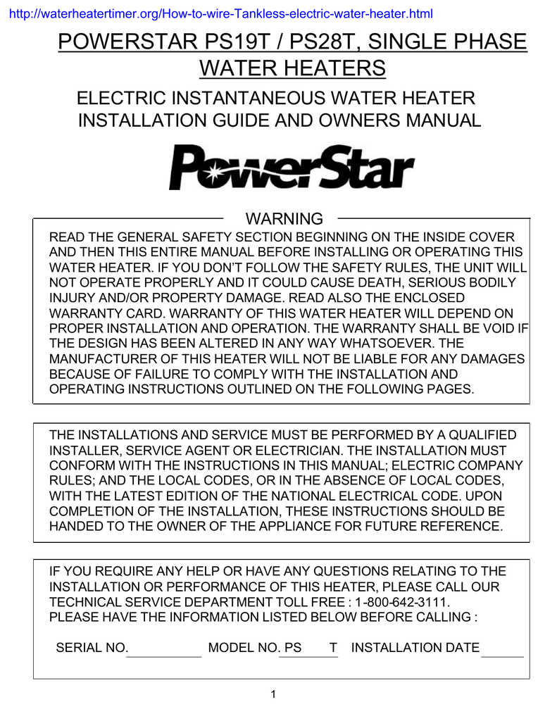 Powerstar Electric Tankless Water Heater Manual Nemetas Instant Wiring Diagram 325ci