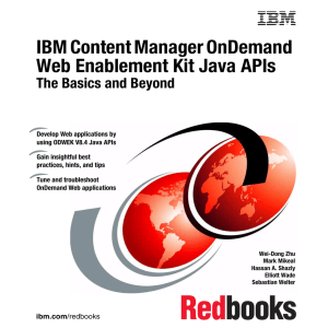 IBM Content Manager OnDemand Web Enablement Kit Java APIs Front cover