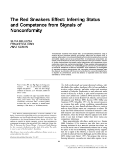 The Red Sneakers Effect: Inferring Status and Competence from Signals of Nonconformity