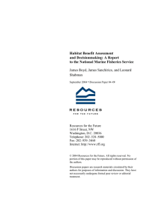 Habitat Benefit Assessment and Decisionmaking: A Report
